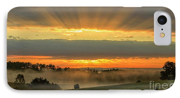 Sunbeams Banner Landscape Sunrise Art IPhone Case