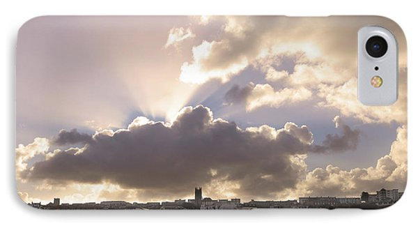 IPhone Case featuring the photograph Sunbeams Over Church In Color by Nicholas Burningham