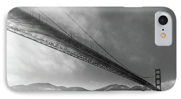 Sunbeams Through The Golden Gate Black And White IPhone Case