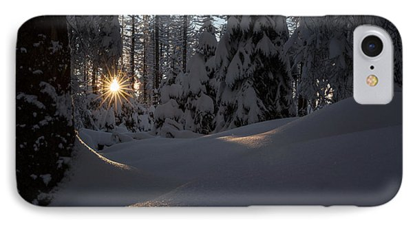 Sunburst In Winter Fairytale Forest Harz IPhone Case by Andreas Levi