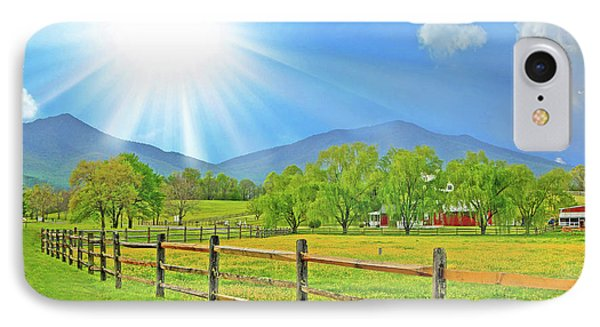 Sunburst Over Peaks Of Otter, Virginia IPhone Case by The American Shutterbug Society