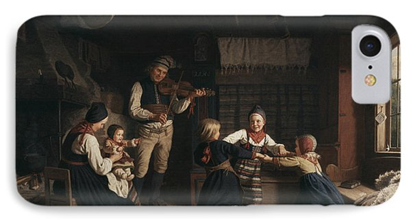 Sunday Evening In A Farmhouse In Dalecarlia IPhone Case by Amalia Lindegren