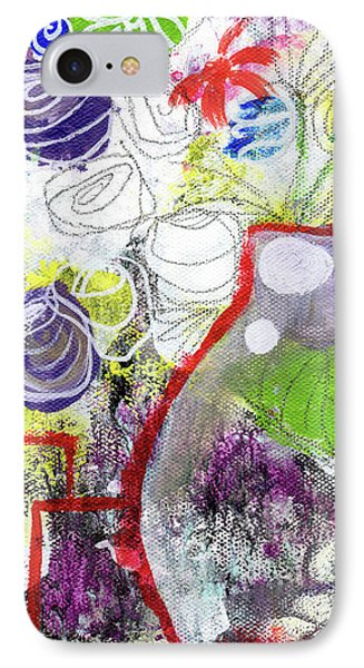 Sunday Market Flowers 3- Art By Linda Woods IPhone 7 Case by Linda Woods
