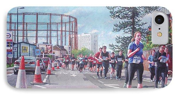 IPhone Case featuring the painting Sunday Morning Abp Marathon. Northam, Southampton  by Martin Davey