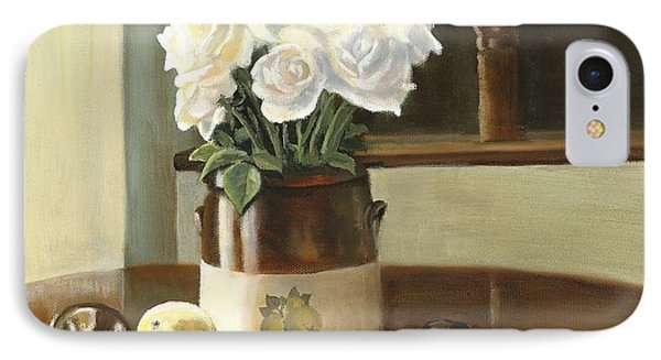 IPhone Case featuring the painting Sunday Morning And Roses - Study by Marlene Book