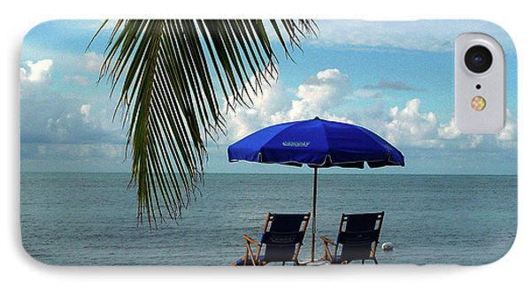 Sunday Morning At The Beach In Key West Phone Case by Susanne Van Hulst
