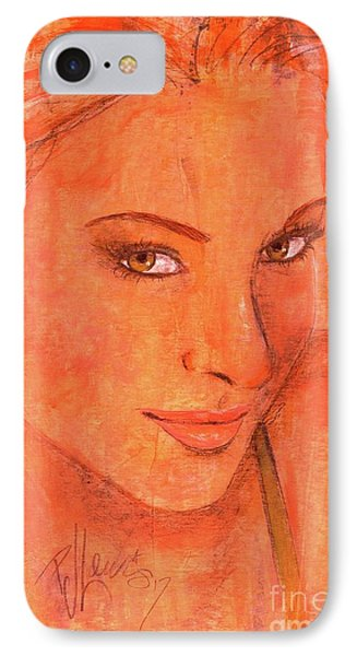 IPhone Case featuring the painting Sunday by P J Lewis