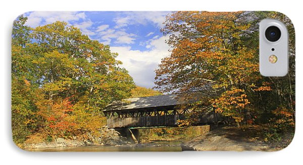Sunday River Covered Bridge IPhone Case by John Burk