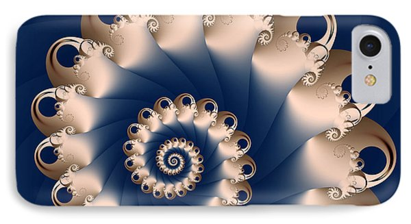 IPhone Case featuring the digital art Sunday Spiral by Karin Kuhlmann