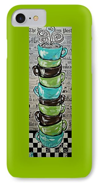 Sundays Cup A Joe Dark Roast IPhone Case by Jackie Carpenter