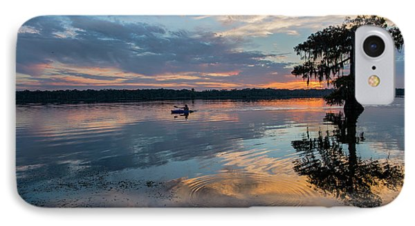 IPhone Case featuring the photograph Sundown Kayaking At Lake Martin Louisiana by Bonnie Barry