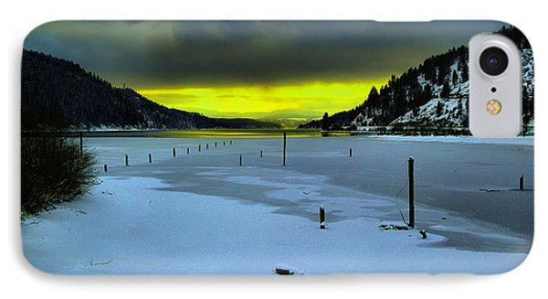 IPhone Case featuring the photograph Sundown On Lake Shore by Jeff Swan