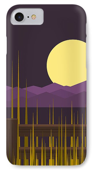 IPhone Case featuring the digital art Sundown - Vertical by Val Arie