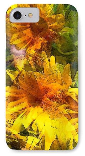 Sunflower 6 IPhone Case by Pamela Cooper