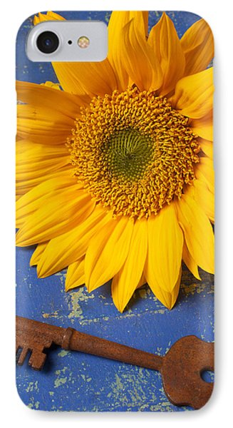 Sunflower And Skeleton Key Phone Case by Garry Gay