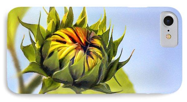 Sunflower Bud Phone Case by John Edwards