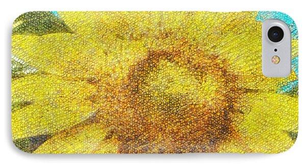 Sunflower - Da IPhone Case by Leonardo Digenio