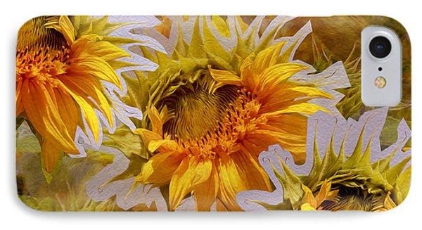 Sunflower Delight IPhone Case by Lynda Lehmann