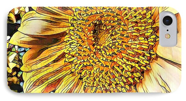 Sunflower In The Alley IPhone Case by Diane Miller
