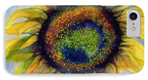 Sunflower  Emergence IPhone Case by Janine Riley