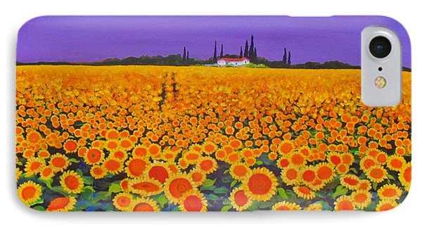 Sunflower Field IPhone Case by Anne Marie Brown