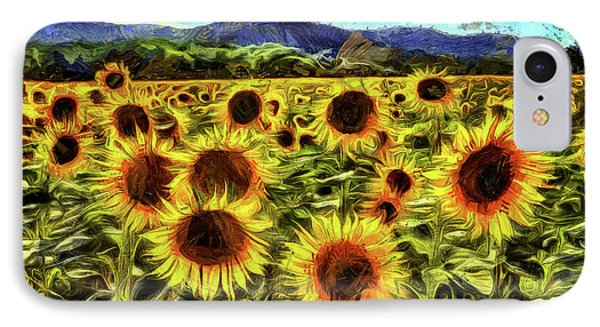 Sunflower Field Van Gogh IPhone Case