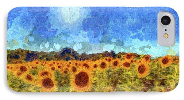 Sunflower Fields Van Gogh IPhone Case