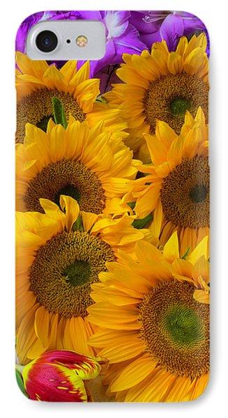 Sunflower Gathering IPhone Case