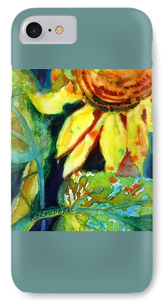 Sunflower Head 4 IPhone Case by Kathy Braud