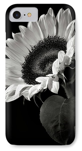 Flowers iPhone 7 Case - Sunflower In Black And White by Endre Balogh