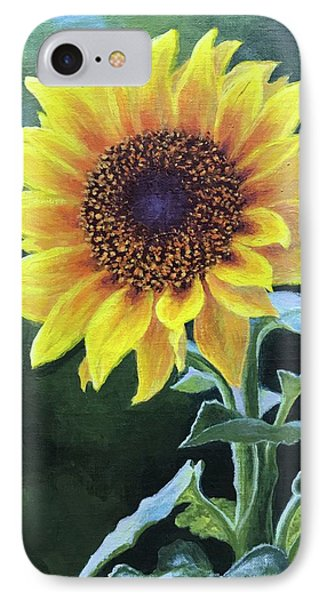 Sunflower IPhone Case by Janet King