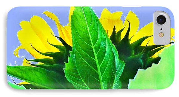 Sunflower IPhone Case by Ludwig Keck