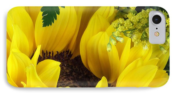Sunflower Macro IPhone Case by Tom Mc Nemar
