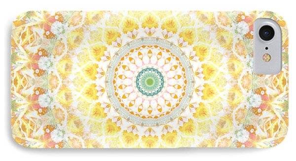 Sunflower iPhone 7 Case - Sunflower Mandala- Abstract Art By Linda Woods by Linda Woods