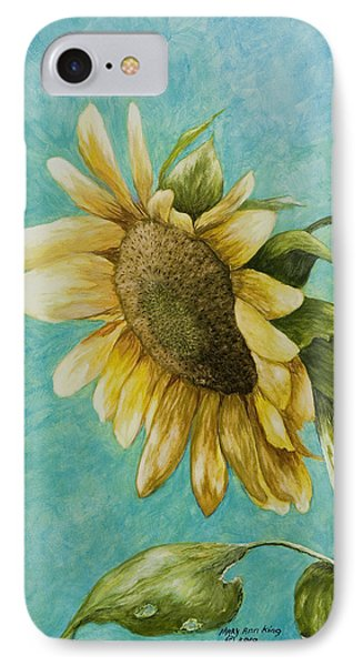 Sunflower Number One Phone Case by Mary Ann King