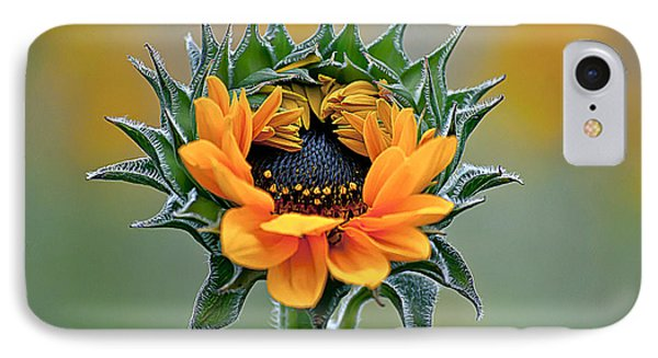 Sunflower Opens Phone Case by Emerald Studio Photography