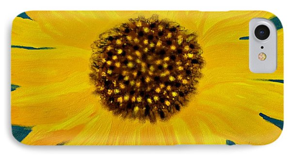 Sunflower Painting IPhone Case by Barbara Chichester