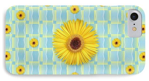Sunflower Pattern IPhone Case