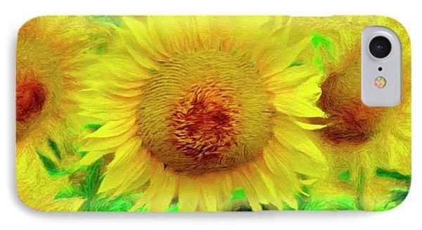 Sunflower Posing Phone Case by Jeffrey Kolker