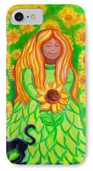 Sunflower Princess Phone Case by Nick Gustafson