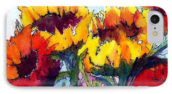Sunflower Serenade IPhone Case by Anne Duke