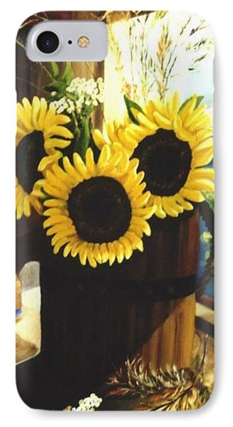 IPhone Case featuring the painting Sunflower Sill by Renate Nadi Wesley