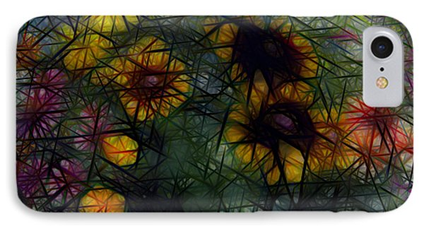 Sunflower Streaks IPhone Case by Carol Crisafi