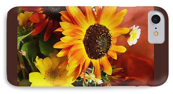 Sunflower Strong Phone Case by Kathy Bassett