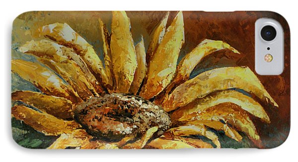 Sunflower Study Phone Case by Michael Lang
