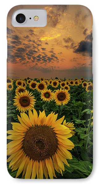 IPhone Case featuring the photograph Sunflower Sunset  by Aaron J Groen