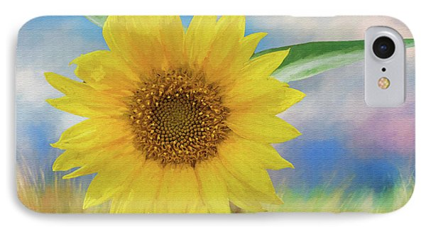 Sunflower Surprise IPhone Case by Bonnie Barry