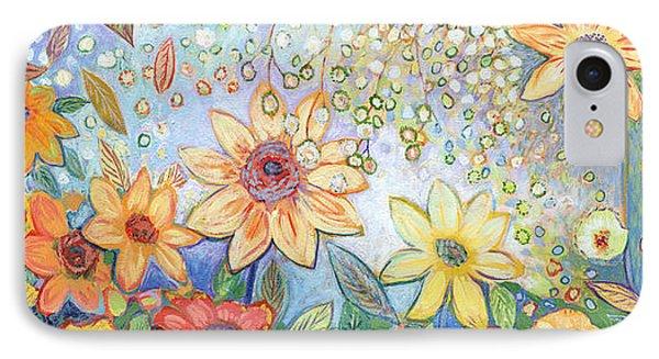 Sunflower iPhone 7 Case - Sunflower Tropics by Jennifer Lommers