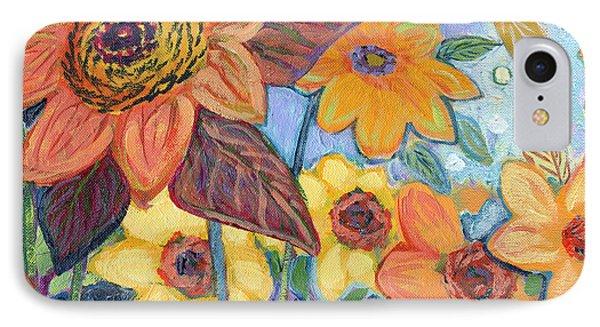 Sunflower iPhone 7 Case - Sunflower Tropics Part 1 by Jennifer Lommers