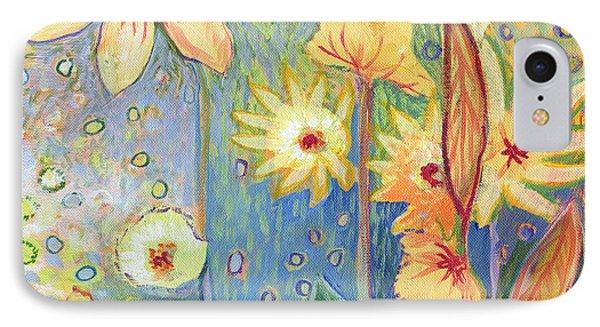 Sunflower Tropics Part 3 IPhone Case by Jennifer Lommers